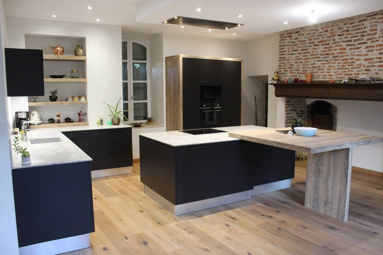 Ilot De Cuisine Avec Colonne création d'une cuisine moderne avec îlot central et plan de